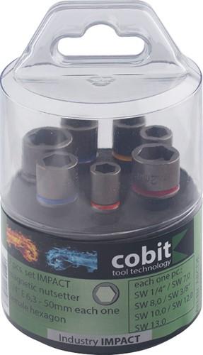 Cobit 02437 impact stift dopsleutel set 7-delig