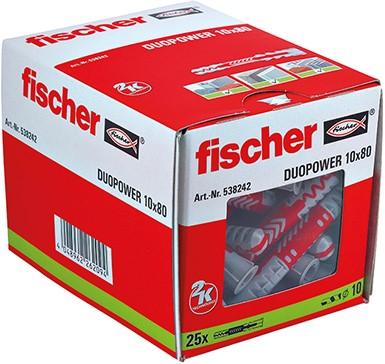 Fischer plug Duopower XL 10x80mm (25 stuks)