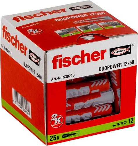 Fischer plug Duopower 12x60mm (25 stuks)
