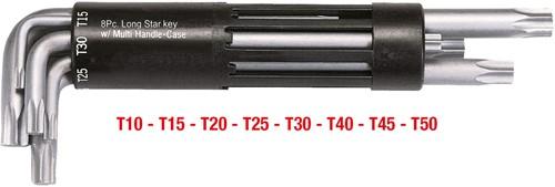KS 3in1 Stiftsleutelset voor TX-schroeven, 8-dlg, T10-T50