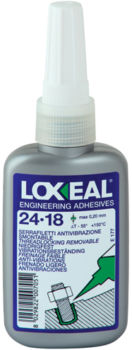 Loxeal 24-18 borgmiddel laag sterkte 50ml (alt. Loctite 222)