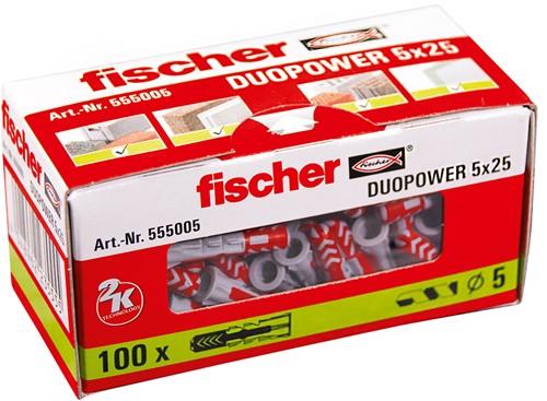 Fischer plug Duopower 5x25 mm (100 stuks)