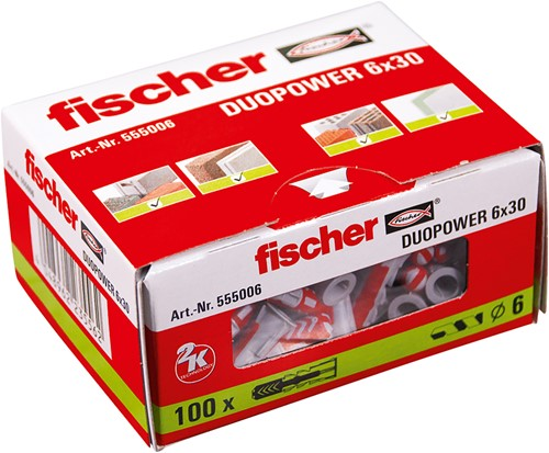 Fischer plug Duopower 6x30mm (100 stuks)