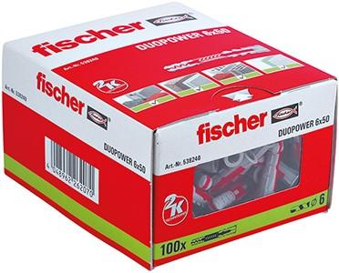 Fischer plug Duopower XL 6x50mm (100 stuks)