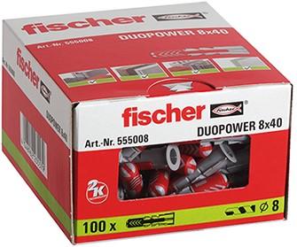 Fischer plug Duopower 8x40mm (100 stuks)