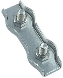 M8331 Duplex staalkabelklem 5mm RVS-A4