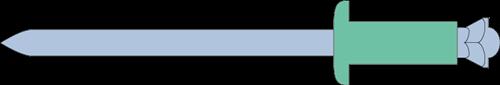 Q-Peel popnagel Alu/Staal BK 4.8 X 14 (5.0-7.0mm)