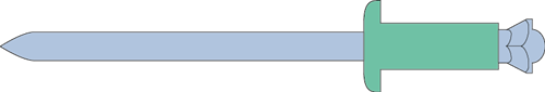 Q-Peel popnagel Alu/Staal BK 4.8 X 50 - [33.0-40.0mm] (250 st.)