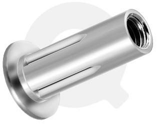 Q-Split Blindmoer Staal open CK M6 - [0.5-7.10mm] (250 st.)