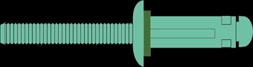 Q-TRI-split popnagel Alu/Alu BK 4.0 X24.0 - [4.0-10.0mm] (500 st.)