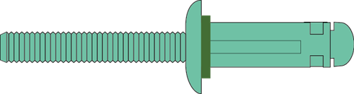 Q-TRI-split popnagel Alu/Alu BK 4.8 X15.3 - [1.0-3.0mm] (500 st.)