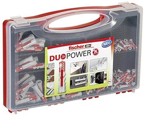 Fischer Redbox DUOPOWER assortibox pluggen, 140-dlg
