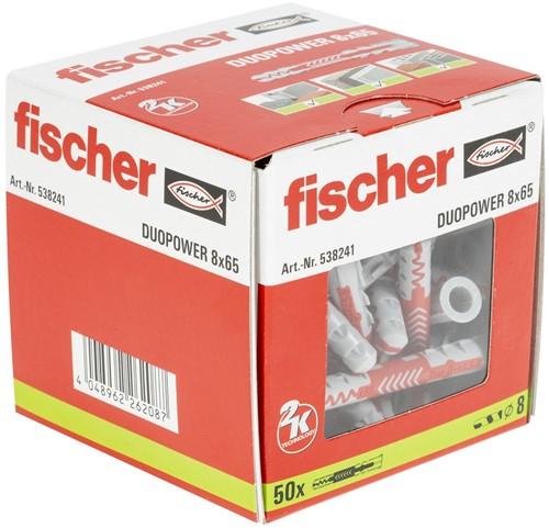 Fischer plug Duopower XL 8x65mm (50 stuks)