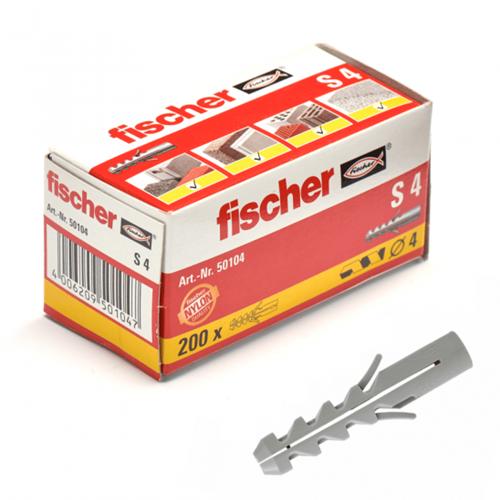 Fischer plug S4x20 mm (200 stuks)