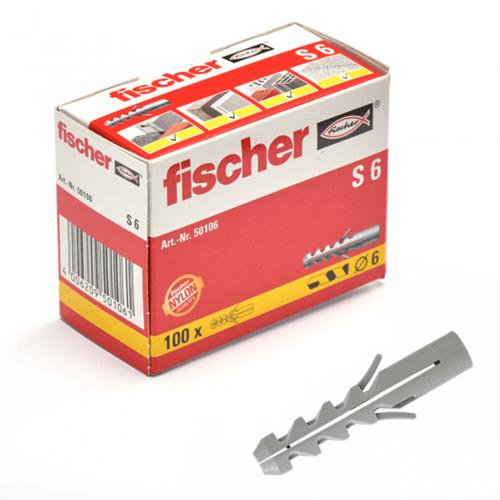 Fischer plug S6x30 mm (100 stuks)