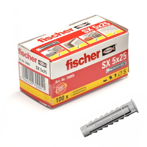 Fischer plug SX5x25 mm (100 stuks)