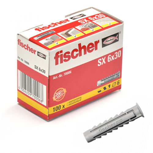 Fischer plug SX6x30 mm (100 stuks)