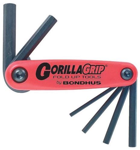 Bondhus GORILLAGRIP opvouwset inbus SW 2-8mm