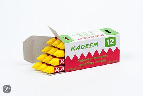 Kadeem merkkrijt geel verpakking a 12 stuks