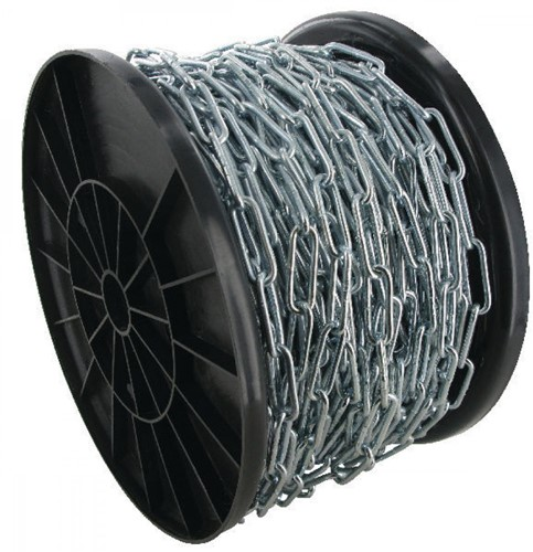 DIN 763 ketting lange schalm 2mm Rol a 100mtr RVS-A4