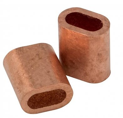Persmof koper tbv 2mm rvs staalkabel