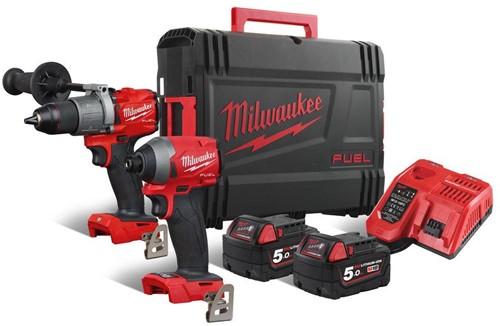 Milwaukee M18 FPP2A2-502X set (M18FPD2+M18FID) 18V / 5,0 Ah