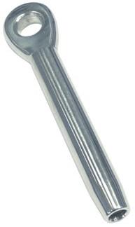 Walsterminal 6mm met oog 12,5mm RVS-A4