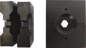 7,5mm Persbekken set voor Hydr. perstang tbv 4mm staalkabel