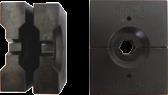 9,0mm Persbekken set voor Hydr. perstang tbv 5mm staalkabel