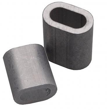 Persmof koper vernikkeld tbv 2mm rvs staalkabel