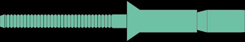 Q-M-Power popnagel Alu/Alu VK 6.4X16.0 - [3.2-12.0mm] (250 st.)