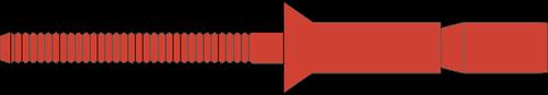 Q-M-Power popnagel RVS-A2/RVS-A2 VK 6.4 X16.0 - [3.2-12.0mm] (250 st.)