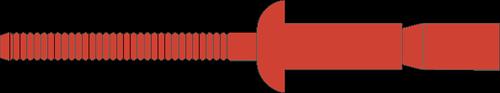 Q-M-Power popnagel RVS-A2/RVS-A2 BK 6.4 X14.5 - [2.0-9.5mm] (250 st.)