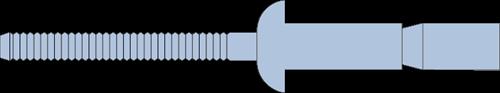 Q-M-Power popnagel Alu/Alu BK 6.4 X19.5 - [2.0-15.9mm] (250 st.)