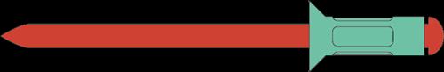 Q-Multigrip popnagel Alu/RVS-A2 VK 3.2 X 8.0 (1.5-5.0mm)