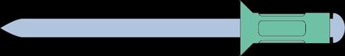 Q-Multigrip popnagel Alu/Staal VK 4.0 X16 - [4.3-9.5mm] (500 st.)