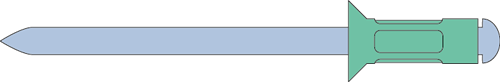 Q-Multigrip popnagel Alu/Staal VK 4.8 X27 - [17.0-22.0mm] (250 st.)