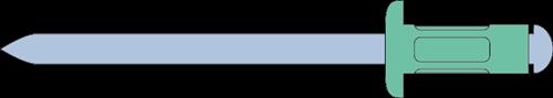 Q-Multigrip popnagel Alu/Staal BK 4.8 X15.1 (4.8-11.0mm)