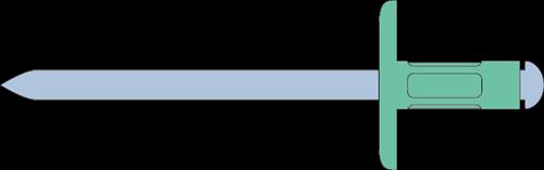 Q-Multigrip popnagel Alu/Staal XXL 4.8 X12.5X16.0 (4.0-9.5mm)