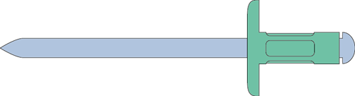 Q-Multigrip popnagel Alu/Staal XL 4.8 X10.0X14.0 - [1.6-6.4mm] (250 st.)