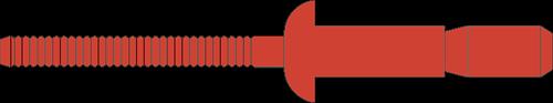 Q-P-Power popnagel RVS-A2/RVS-A2  BK 6.4 X14.0 - [2.0-9.5mm] (250 st.)