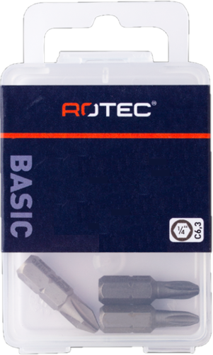 PRO Schroefbit PH 2-R L=25mm C 6,3 BASIC, 4,6 - 4,8mm (10 stuks)