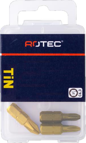 PRO Schroefbit PH 2 L=25mm C 6,3 TIN (10 stuks)