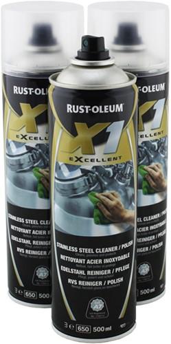 Rust-Oleum 1633 X1 eXcellent - RVS cleaner spray - 500ml