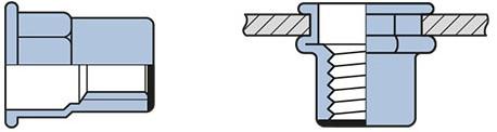 Q-Blindmoer Staal gesloten semi-hex CK M6 - [0.5-3.0mm] (250 st.)