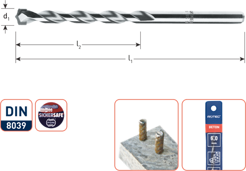 Super-betonboor ø8x80/120