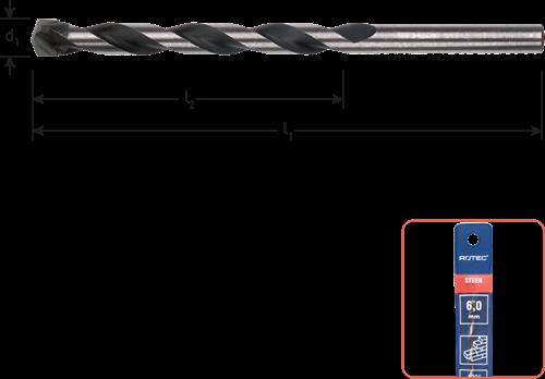 Steenboor ø6x60/100