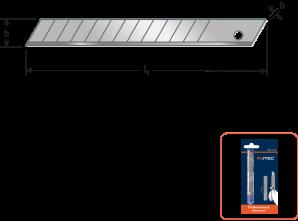 Reserve-afbreekmessen 9,0x0,40 mm - V.E.=10 st
