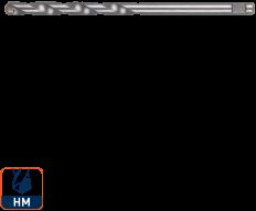 Quick-Change Centreerboor HM (lang) 6,35x124 mm