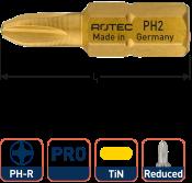 PRO Insertbit PH 2-R L=25mm C 6,3 TIN, 4,6 - 4,8mm